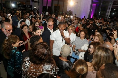 Jamie Foxx attends 2020 Big Game Big Give at Star Island on February 01, 2020 in Miami, Florida.