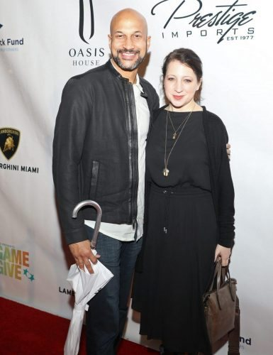 Keegan-Michael Key and Elisa Key attend 2020 Big Game Big Give at Star Island on February 01, 2020 in Miami, Florida.