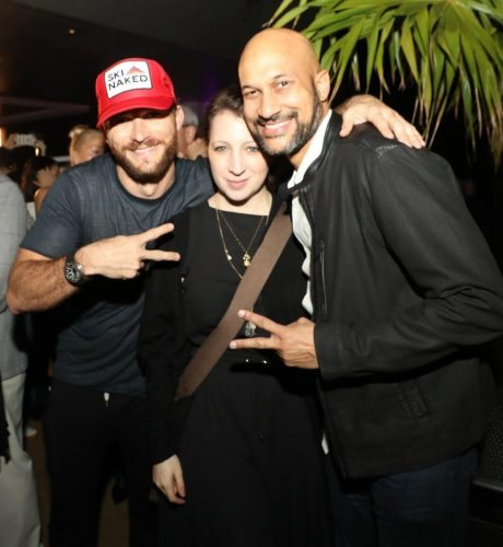 (L-R) Scott Eastwood, Elisa Key and Keegan-Michael Key attend 2020 Big Game Big Give at Star Island on February 01, 2020 in Miami, Florida.