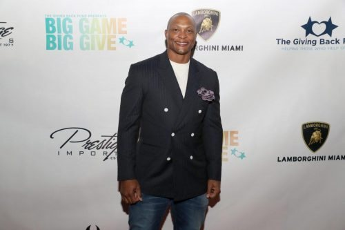 Eddie George attends 2020 Big Game Big Give at Star Island on February 01, 2020 in Miami, Florida.