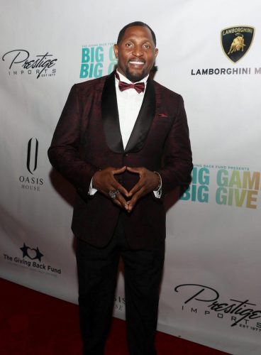Ray Lewis attends 2020 Big Game Big Give at Star Island on February 01, 2020 in Miami, Florida.