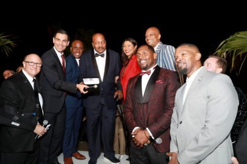 Jim Brown attends 2020 Big Game Big Give at Star Island on February 01, 2020 in Miami, Florida.