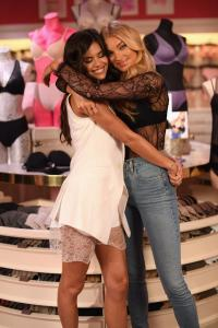 Sara Sampaio and Elsa Hosk at Victoria's Secret T Shirt Bra Collection Launch (1)