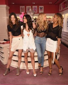 Sara Sampaio and Elsa Hosk surprised by their besties at Victoria's Secret T Shirt Bra Collection Launch