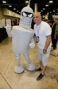 Bender and Angel Rivera at Florida Supercon