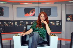 Michele Specht on Star Trek Set