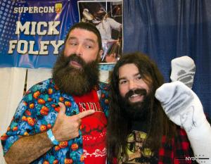 Mick Foley with Fan at Florida Supercon