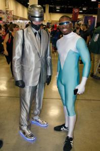 Robocop and Frozone at Florida Supercon