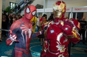 Spider Man and Iron Man at Florida Supercon (1)