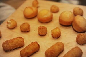 Rice Balls Aracini, Potato Croquette