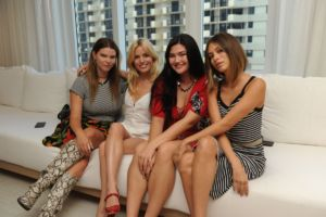 Molly Constable, Georgie May Jagger, Natalie Nootenbom, & Cassie Amato Volcom Miami Swim Week Cocktail Event 2