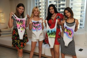 Molly Constable, Georgie May Jagger, Natalie Nootenbom, & Cassie Amato Volcom Miami Swim Week Cocktail Event 4