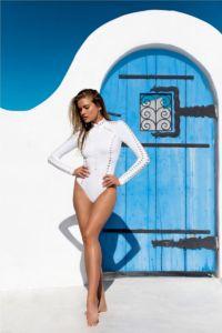 GIGI C BIKINIS Riley Surfsuit White
