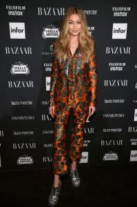 Gigi Hadid Attends Harper's BAZAAR celebrates 'ICONS by Carine Roitfeld' at The Plaza Hotel presented by Infor, Laura Mercier, Stella Artois, Fujifilm and Swarovski