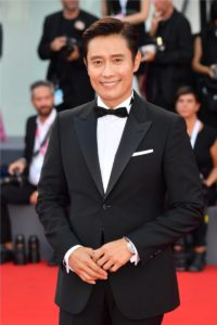 Lee Byung Hun wearing the JLC Polaris Chronograph in rose gold  ¬Stephane Cardinale