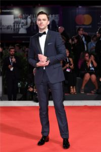 Nicholas Hoult wearing a Master Ultra Thin Moon