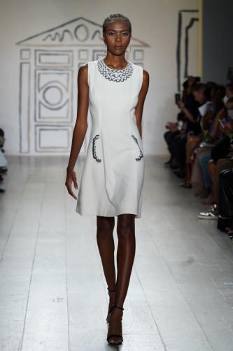 Alabaster Tromp l'oeil A-Line Dress