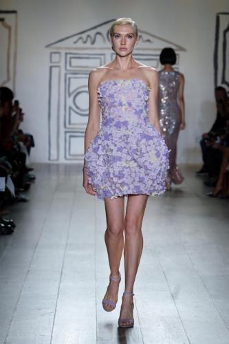 Lavender Floral Bouquet Confection Bubble Dress