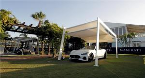 Maserati GranCabrio Sport MY18 on display at Santa Maria Polo Club in Sotogrande