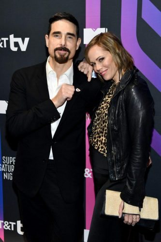 (L-R) Kevin Richardson and Kristin Richardson attend AT&T TV Super Saturday Night at Meridian at Island Gardens on February 01, 2020 in Miami, Florida.