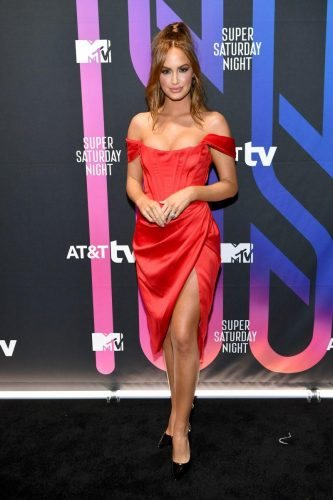 Haley Kalil attends AT&T TV Super Saturday Night at Meridian at Island Gardens on February 01, 2020 in Miami, Florida.