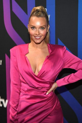 Camille Kostek attends AT&T TV Super Saturday Night at Meridian at Island Gardens on February 01, 2020 in Miami, Florida.
