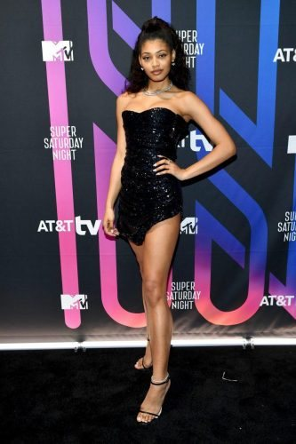 Danielle Herrington attends AT&T TV Super Saturday Night at Meridian at Island Gardens on February 01, 2020 in Miami, Florida.