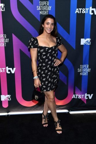 Aly Raisman attends AT&T TV Super Saturday Night at Meridian at Island Gardens on February 01, 2020 in Miami, Florida.
