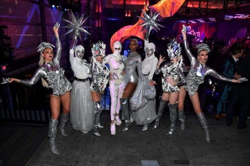 Performers attend AT&T TV Super Saturday Night at Meridian at Island Gardens on February 01, 2020 in Miami, Florida.