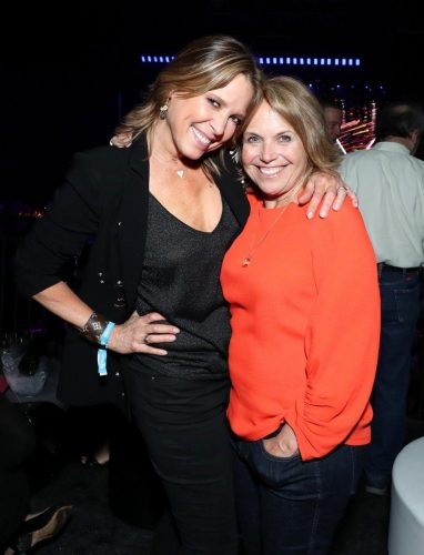 Savannah Guthrie and Katie Couric attend AT&T TV Super Saturday Night at Meridian at Island Gardens on February 01, 2020 in Miami, Florida.