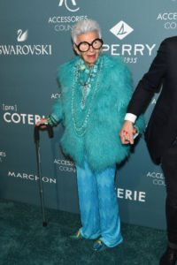 Iris Apfel at Accessories Council hosts the 22nd Annual ACE Awards v1 current