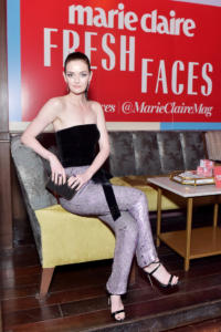 Lydia Hearst attends Marie Claire Celebrates Fifth Annual 'Fresh Faces' in Hollywood with SheaMoisture, Simon G. and Sam Edelman at Poppy on April 27, 2018 in Los Angeles, California.