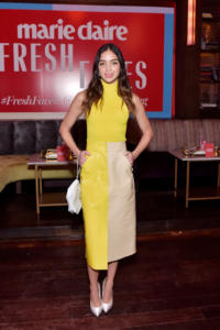 Melissa Barrera attends Marie Claire Celebrates Fifth Annual 'Fresh Faces' in Hollywood with SheaMoisture, Simon G. and Sam Edelman at Poppy on April 27, 2018 in Los Angeles, California.