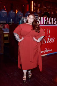 Tess Holliday attends Marie Claire Celebrates Fifth Annual 'Fresh Faces' in Hollywood with SheaMoisture, Simon G. and Sam Edelman at Poppy on April 27, 2018 in Los Angeles, California.