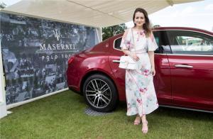 Maserati Royal Charity Polo Trophy 2017 at Beaufort Polo Club, Downfarm House, Westonbirt, Tetbury, Gloucestershire, UK. Andreea Panciuc
