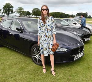 Maserati Royal Charity Polo Trophy 2017 at  Beaufort Polo Club, Downfarm House, Westonbirt, Tetbury, Gloucestershire, UK. Lady Violet Manners
