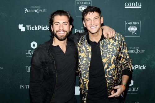 Blake Horseman and Jason Tartick attend the 2020 MAXIM Big Game Experience on February 01, 2020 in Miami, Florida.