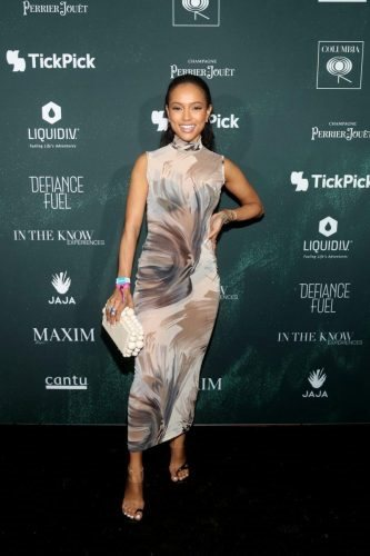 Karrueche Tran attends the 2020 MAXIM Big Game Experience on February 01, 2020 in Miami, Florida.