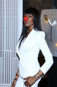 NAOMI CAMPBELL RED NOSE DAY HIRES 1293