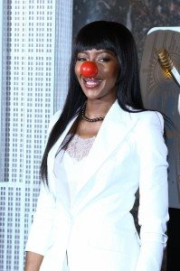 NAOMI CAMPBELL RED NOSE DAY HIRES 1325