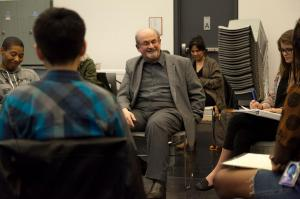 Writing master class with Sir Salman Rushdie photo by Jordan Tiberio