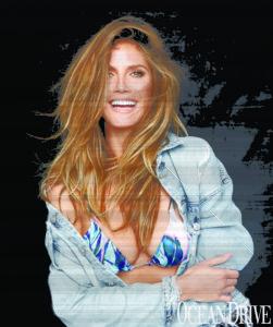 Ocean Drive Magazine Celebrates Swim Issue with Heidi Klum Swim 8