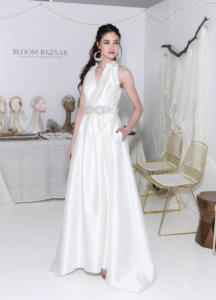 Carmen Marc Valvo Bridal w  Bloom Bazaar accessories