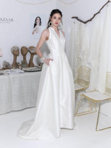 Carmen Marc Valvo Bridal w  Bloom Bazaar accessoriesA