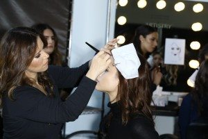 Backstage for Pamella Roland at New York Fashion Week