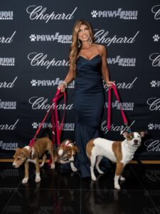Teresa Giudice with adoptable Paws4You dogs