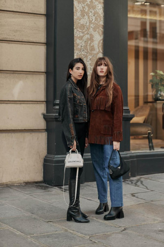 Milla and Koukla Lapidus Paris Fashion Week by Nick Leuze-6