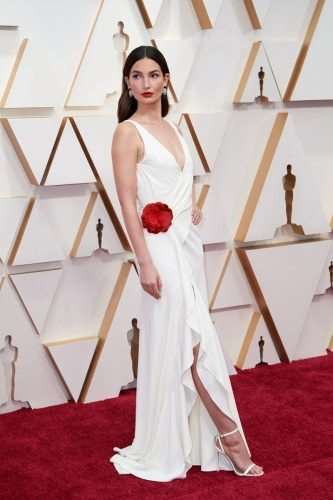 Lily Aldridge arrives on the red carpet of The 92nd Oscars® at the Dolby® Theatre in Hollywood, CA on Sunday, February 9, 2020.