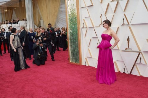 Idina Menzel arrives on the red carpet of The 92nd Oscars® at the Dolby® Theatre in Hollywood, CA on Sunday, February 9, 2020.