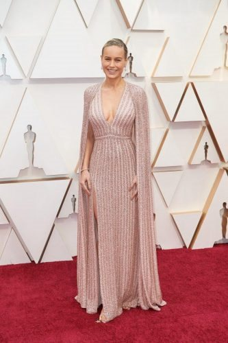 Brie Larson arrives on the red carpet of The 92nd Oscars® at the Dolby® Theatre in Hollywood, CA on Sunday, February 9, 2020.